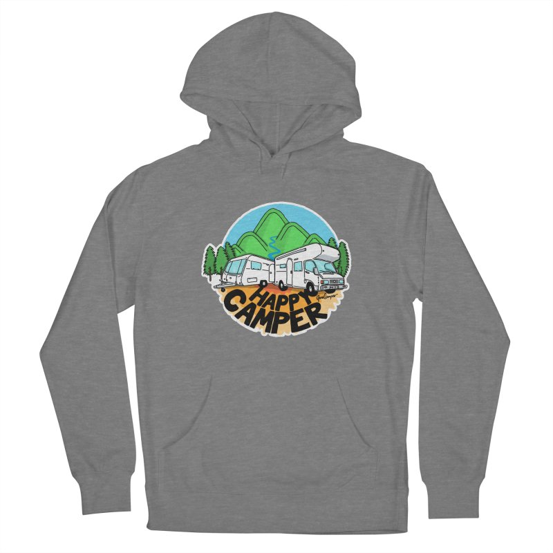 Happy Camper Mountains Women's Pullover Hoody by Illustrated GuruCamper