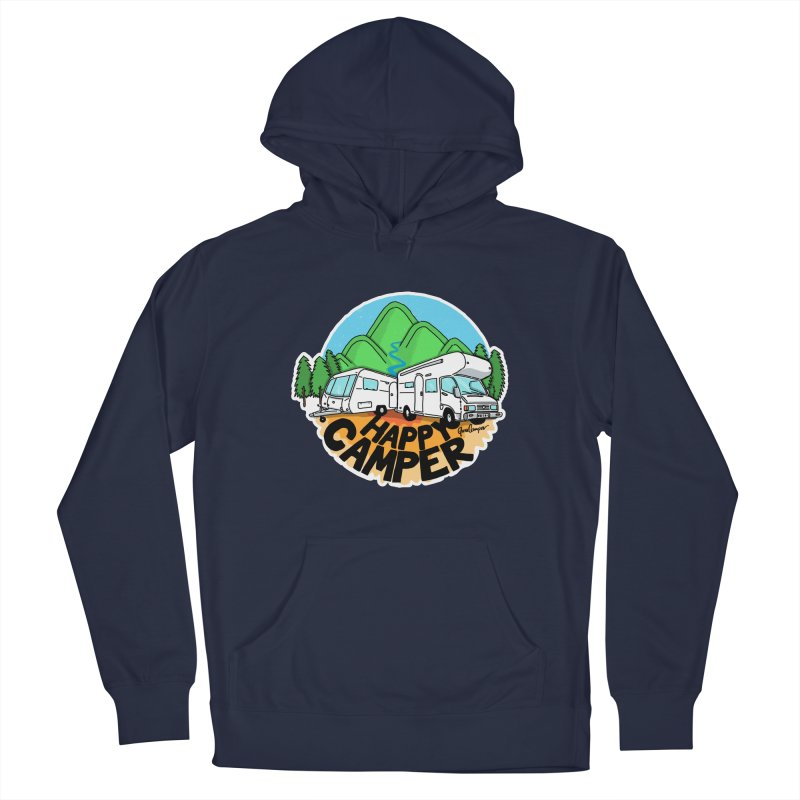 Happy Camper Mountains Men's Pullover Hoody by Illustrated GuruCamper