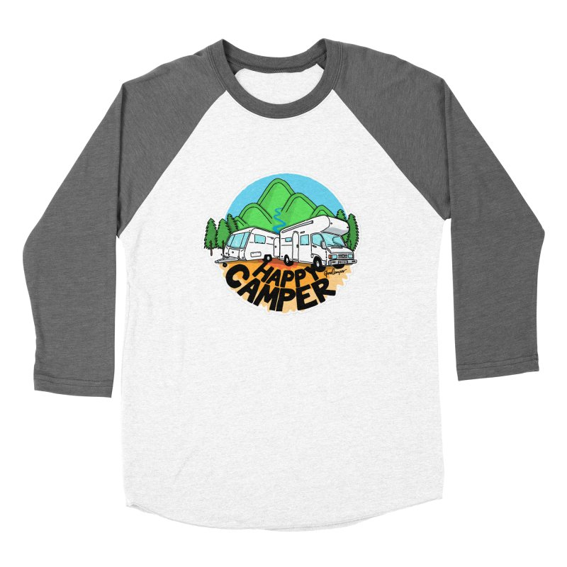 Happy Camper Mountains Women's Longsleeve T-Shirt by Illustrated GuruCamper