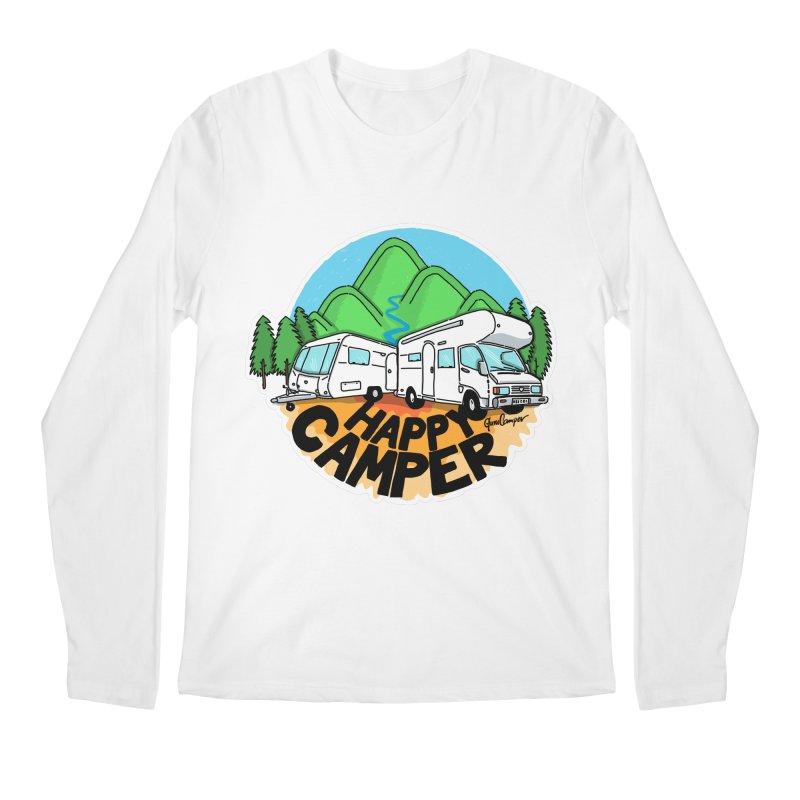 Happy Camper Mountains Men's Longsleeve T-Shirt by Illustrated GuruCamper