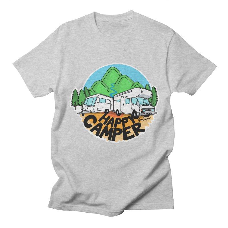 Happy Camper Mountains Women's Regular Unisex T-Shirt by Illustrated GuruCamper