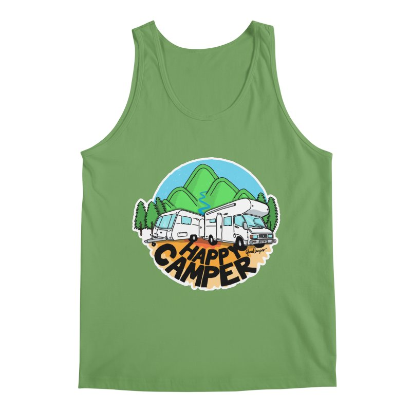 Happy Camper Mountains Men's Tank by Illustrated GuruCamper