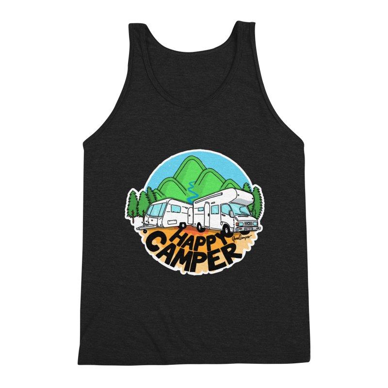 Happy Camper Mountains Men's Tank by Illustrated GuruCamper