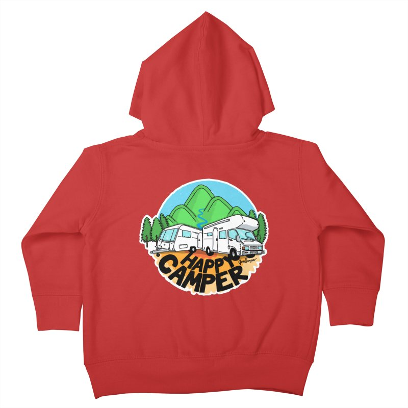 Happy Camper Mountains Kids Toddler Zip-Up Hoody by Illustrated GuruCamper