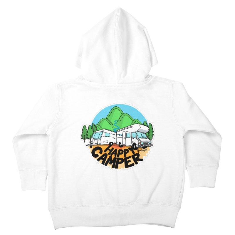 Happy Camper Mountains Kids Toddler Zip-Up Hoody by Illustrated GuruCamper