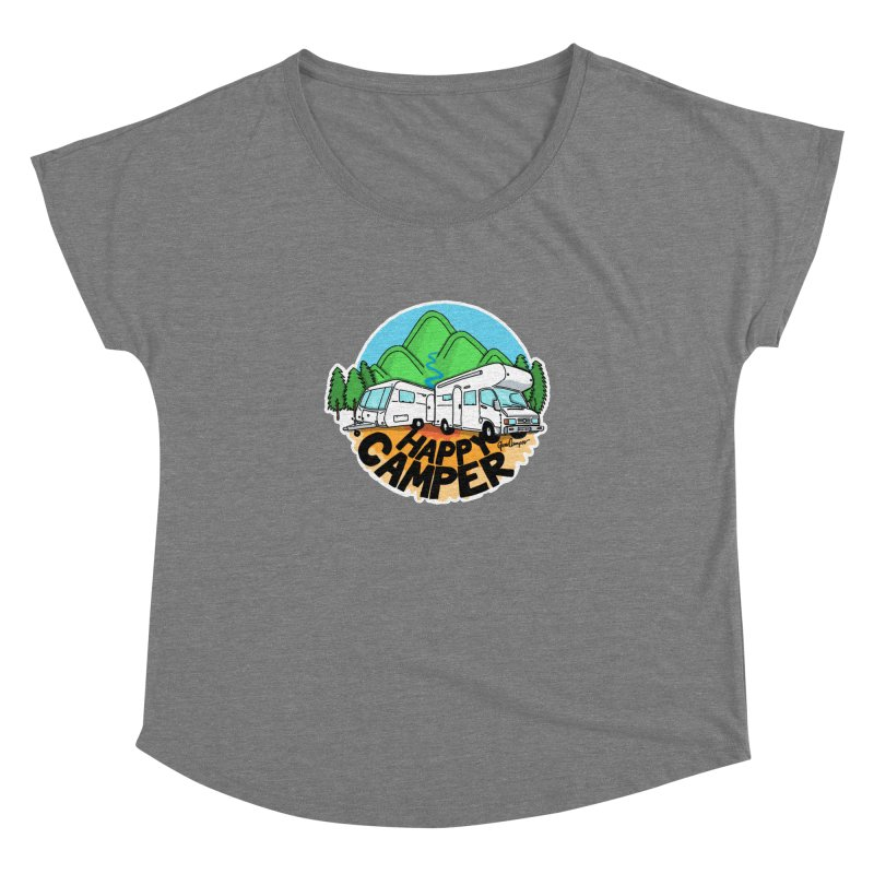 Happy Camper Mountains Women's Scoop Neck by Illustrated GuruCamper