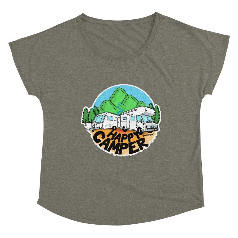 Happy Camper Mountains Women's Scoop Neck by Illustrated GuruCamper
