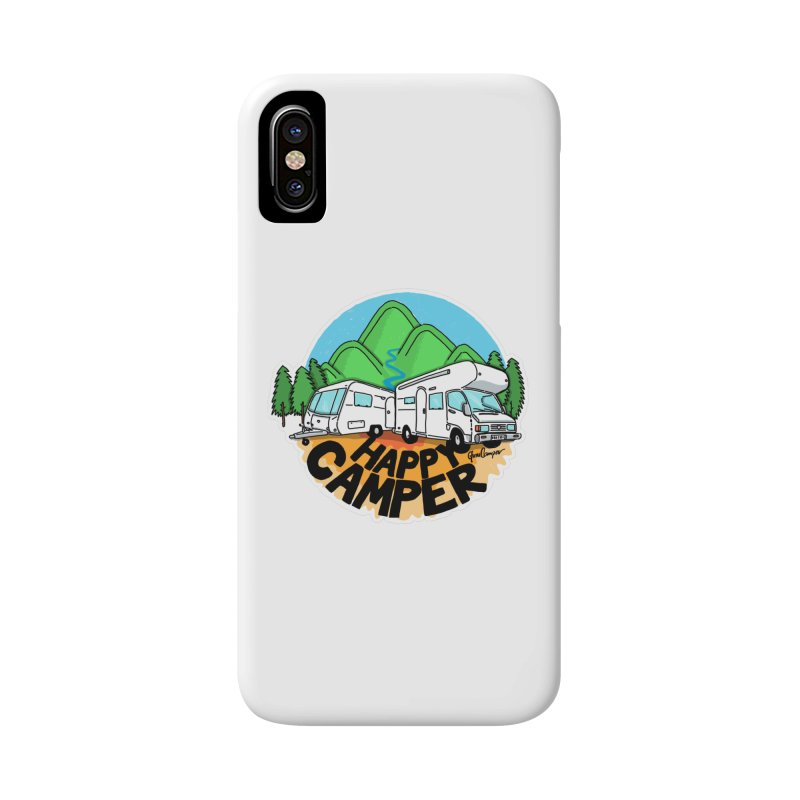 Happy Camper Mountains Accessories Phone Case by Illustrated GuruCamper