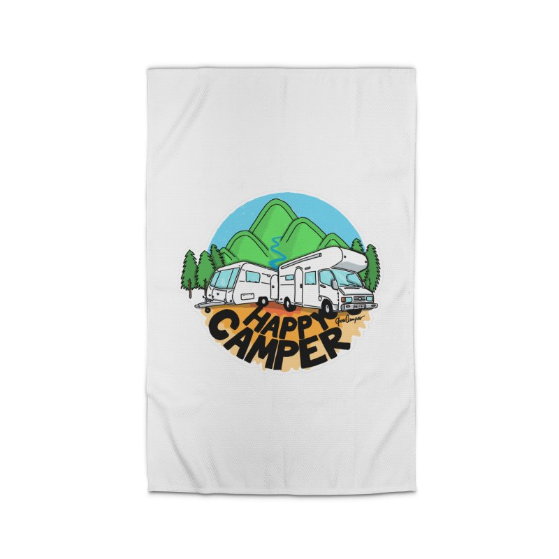 Happy Camper Mountains Home Rug by Illustrated GuruCamper