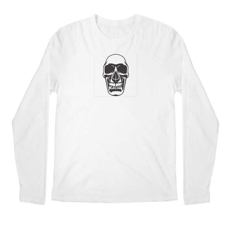 Human skull Men's Longsleeve T-Shirt by guy's Artist Shop