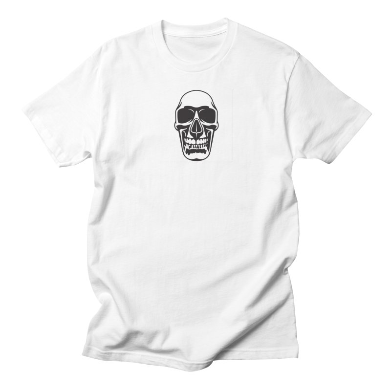 Human skull Men's T-shirt by guy's Artist Shop