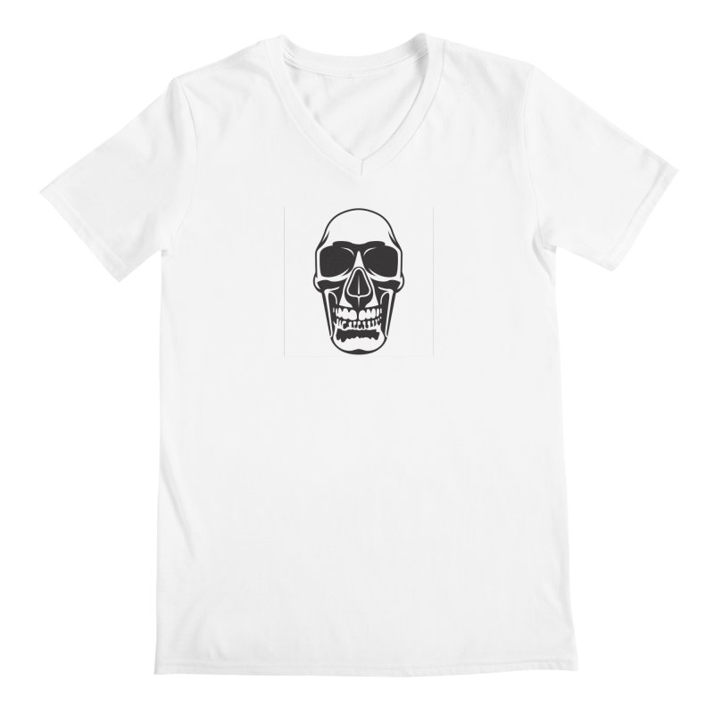 Human skull Men's V-Neck by guy's Artist Shop
