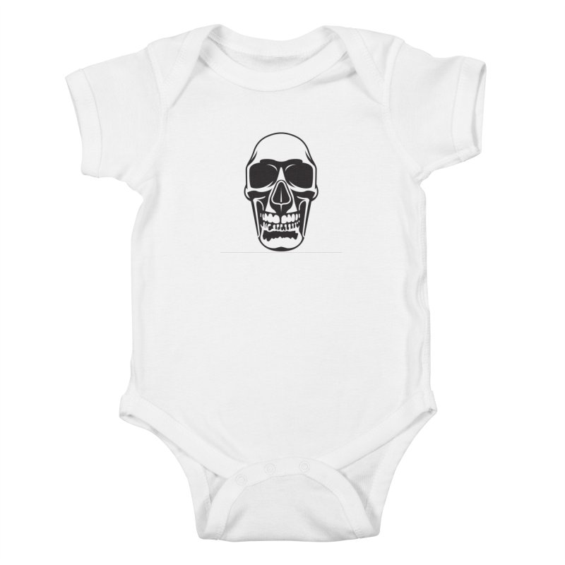 Human skull Kids Baby Bodysuit by guy's Artist Shop