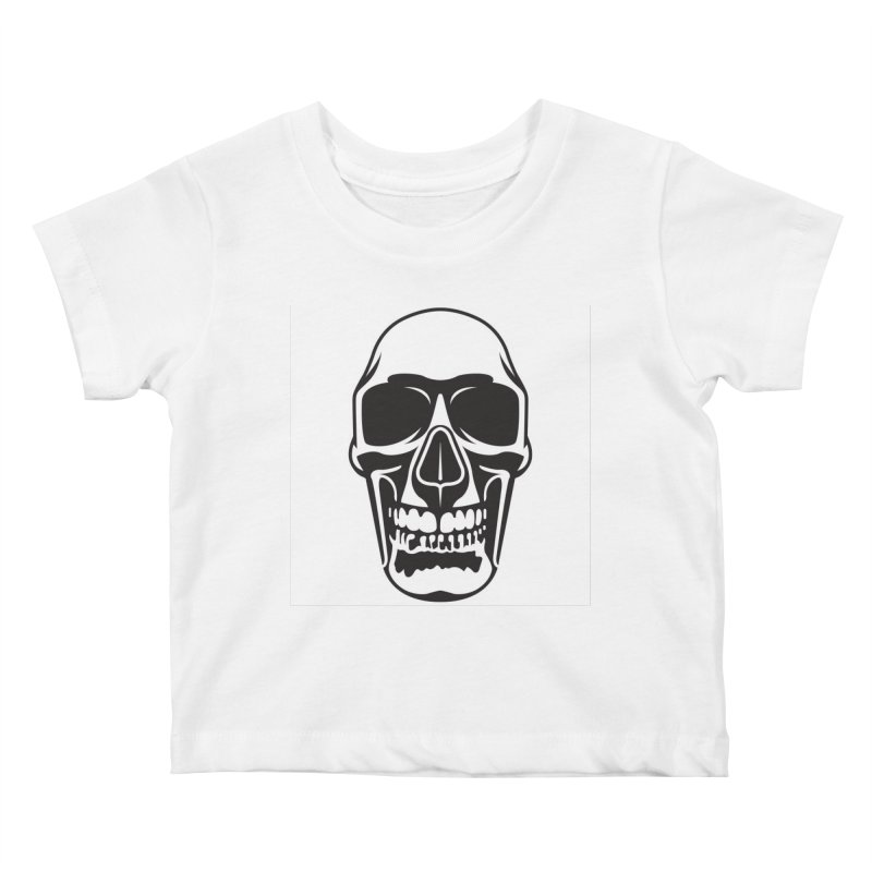 Human skull Kids Baby T-Shirt by guy's Artist Shop