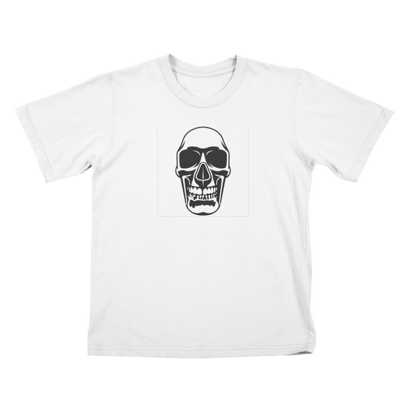 Human skull Kids T-Shirt by guy's Artist Shop
