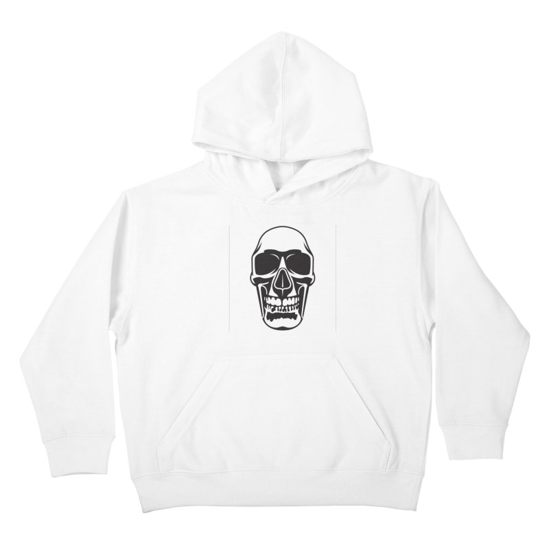 Human skull Kids Pullover Hoody by guy's Artist Shop
