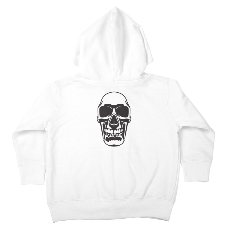 Human skull Kids Toddler Zip-Up Hoody by guy's Artist Shop