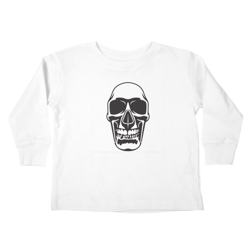 Human skull Kids Toddler Longsleeve T-Shirt by guy's Artist Shop