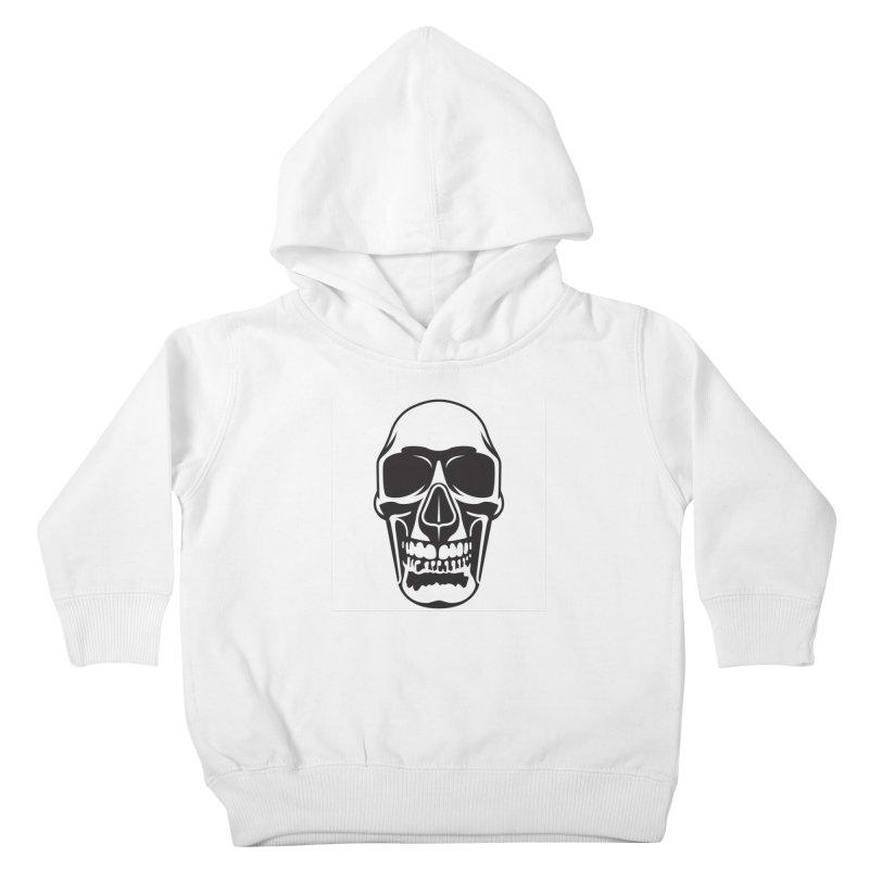 Human skull Kids Toddler Pullover Hoody by guy's Artist Shop