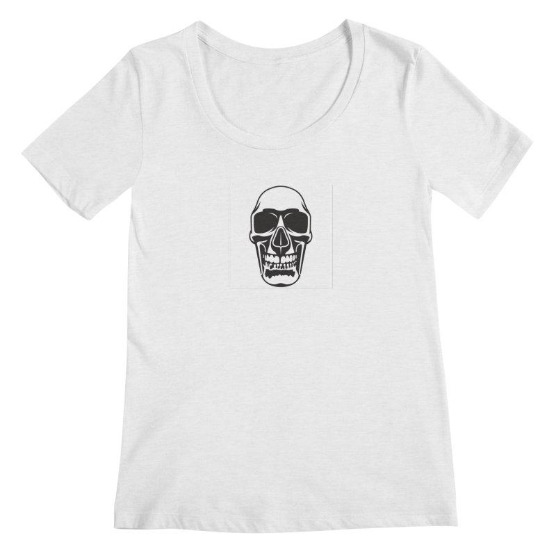Human skull Women's Scoopneck by guy's Artist Shop