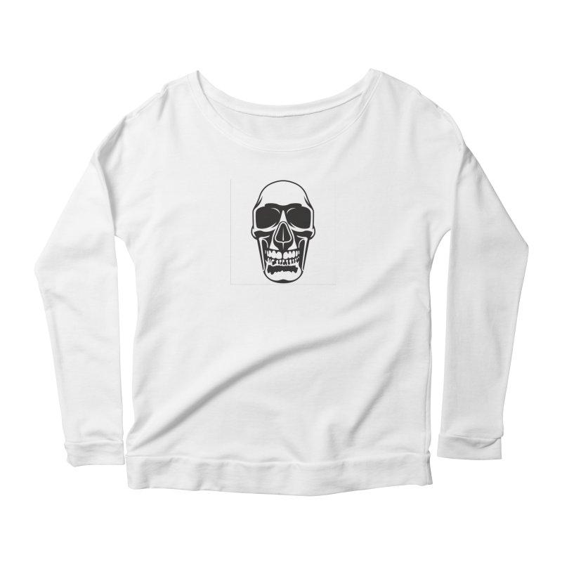 Human skull Women's Longsleeve Scoopneck  by guy's Artist Shop