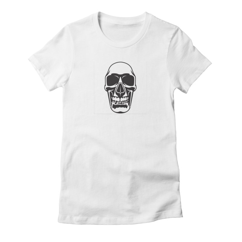 Human skull Women's Fitted T-Shirt by guy's Artist Shop