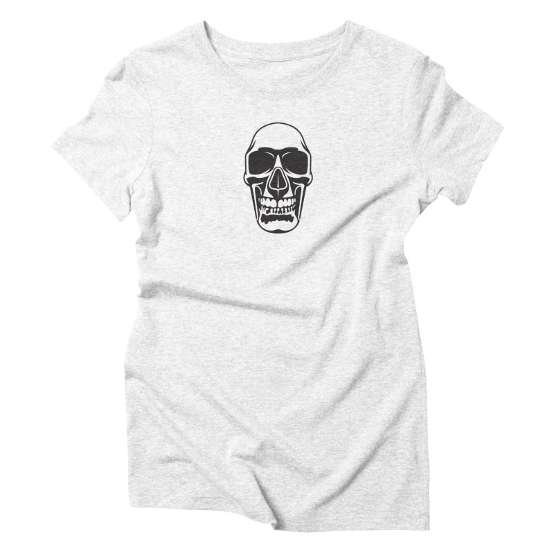 Human skull Women's Triblend T-shirt by guy's Artist Shop