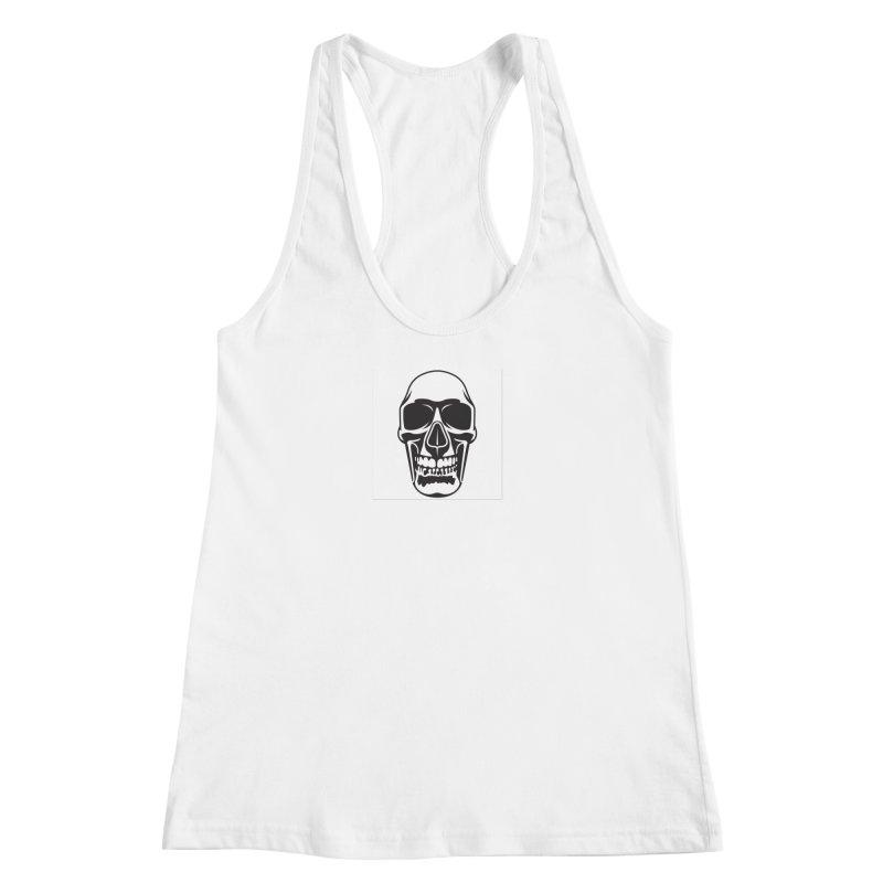 Human skull Women's Racerback Tank by guy's Artist Shop