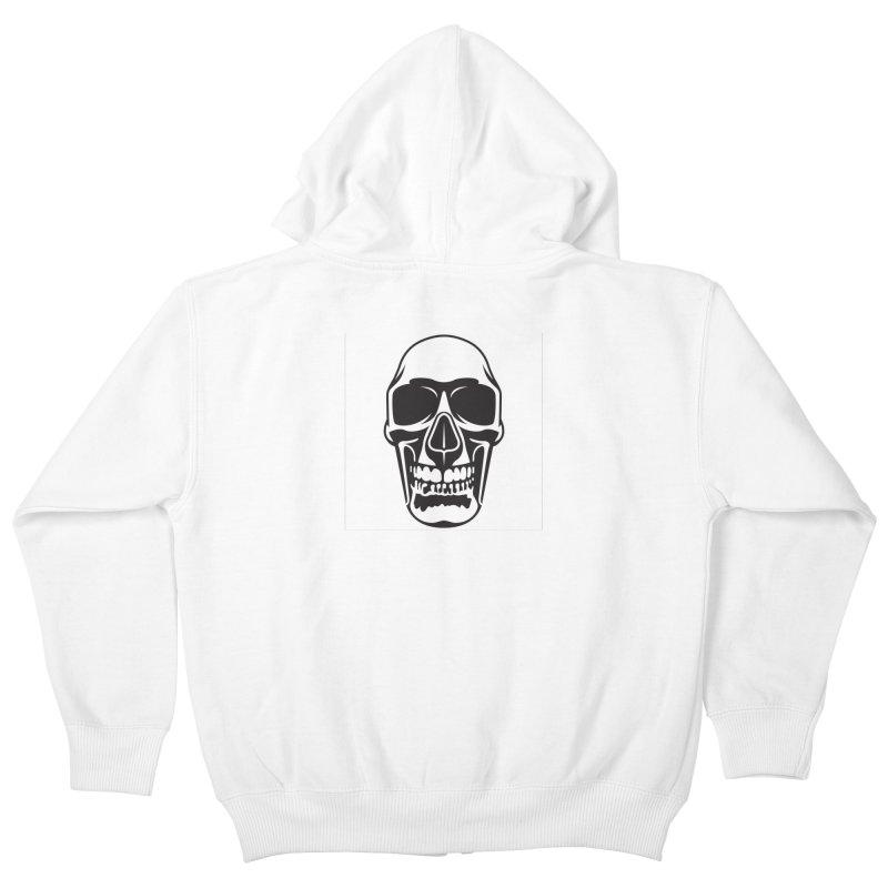 Human skull Kids Zip-Up Hoody by guy's Artist Shop