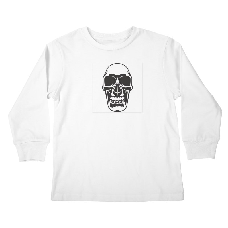Human skull Kids Longsleeve T-Shirt by guy's Artist Shop