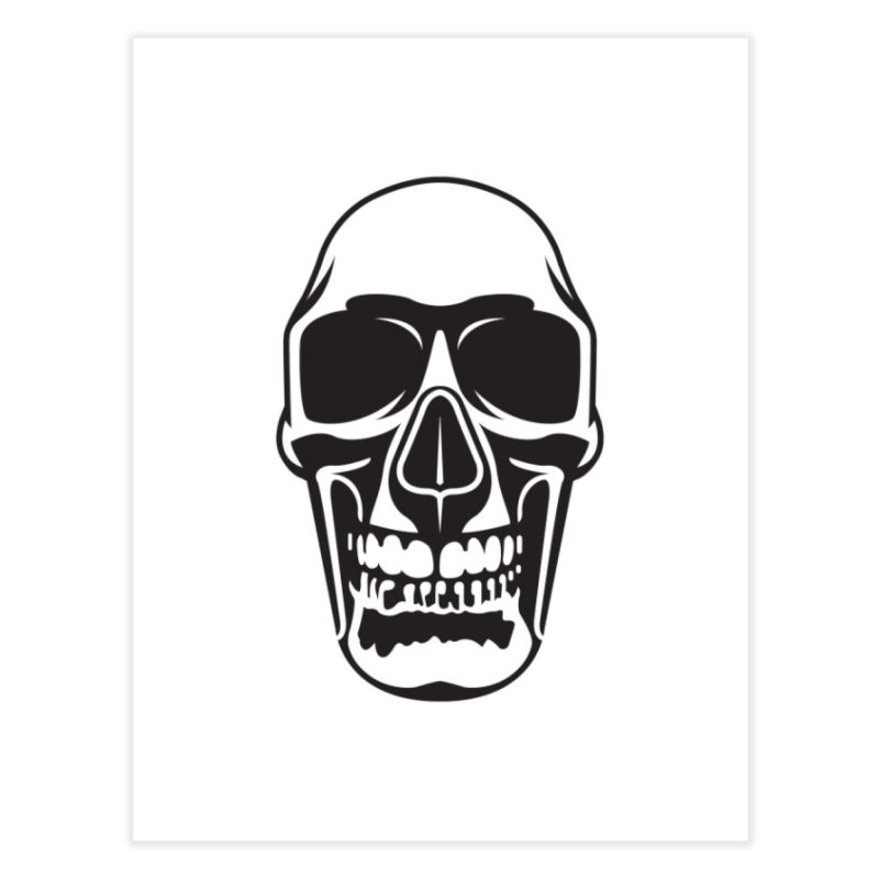 Human skull Home Fine Art Print by guy's Artist Shop