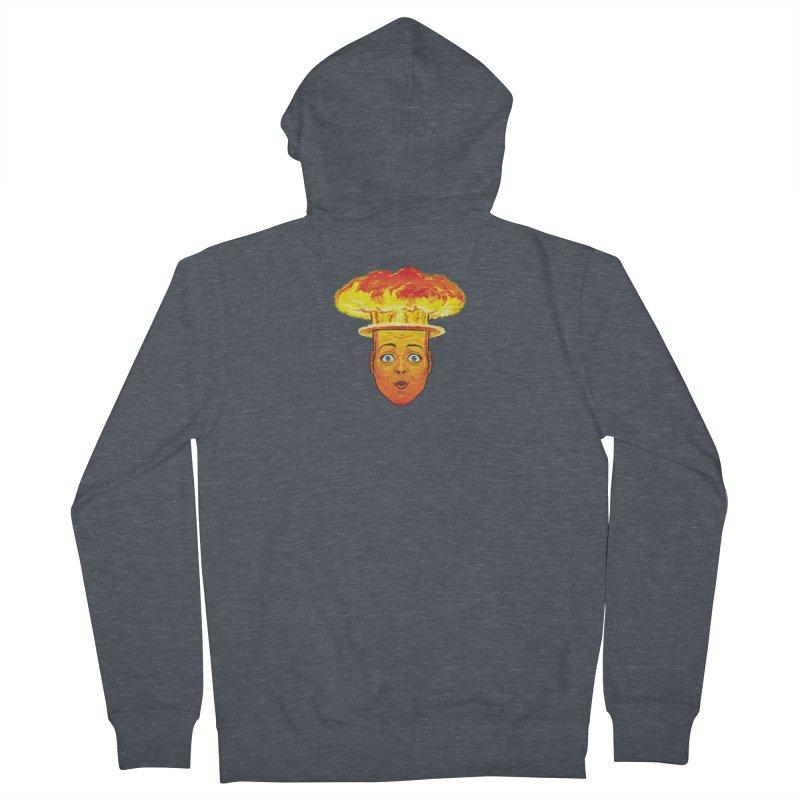 Atomic Head Men's Zip-Up Hoody by guy's Artist Shop