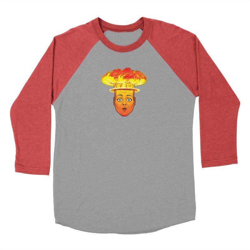 Atomic Head Men's Baseball Triblend T-Shirt by guy's Artist Shop