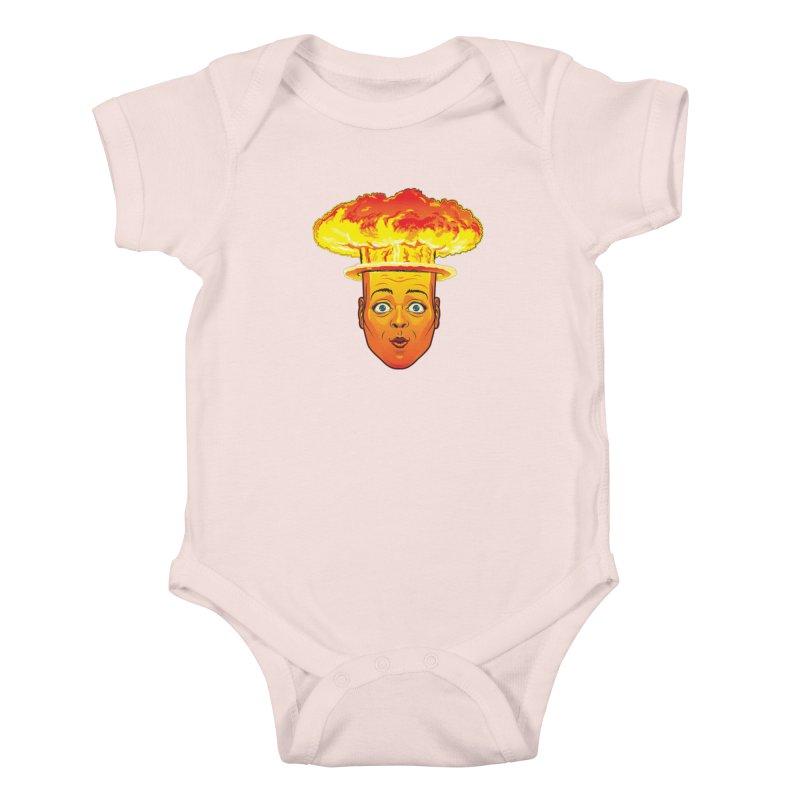 Atomic Head Kids Baby Bodysuit by guy's Artist Shop