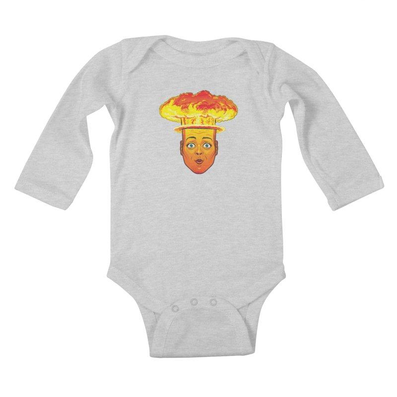 Atomic Head Kids Baby Longsleeve Bodysuit by guy's Artist Shop