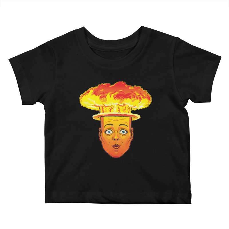 Atomic Head Kids Baby T-Shirt by guy's Artist Shop
