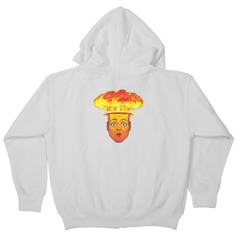 Atomic Head Kids Zip-Up Hoody by guy's Artist Shop