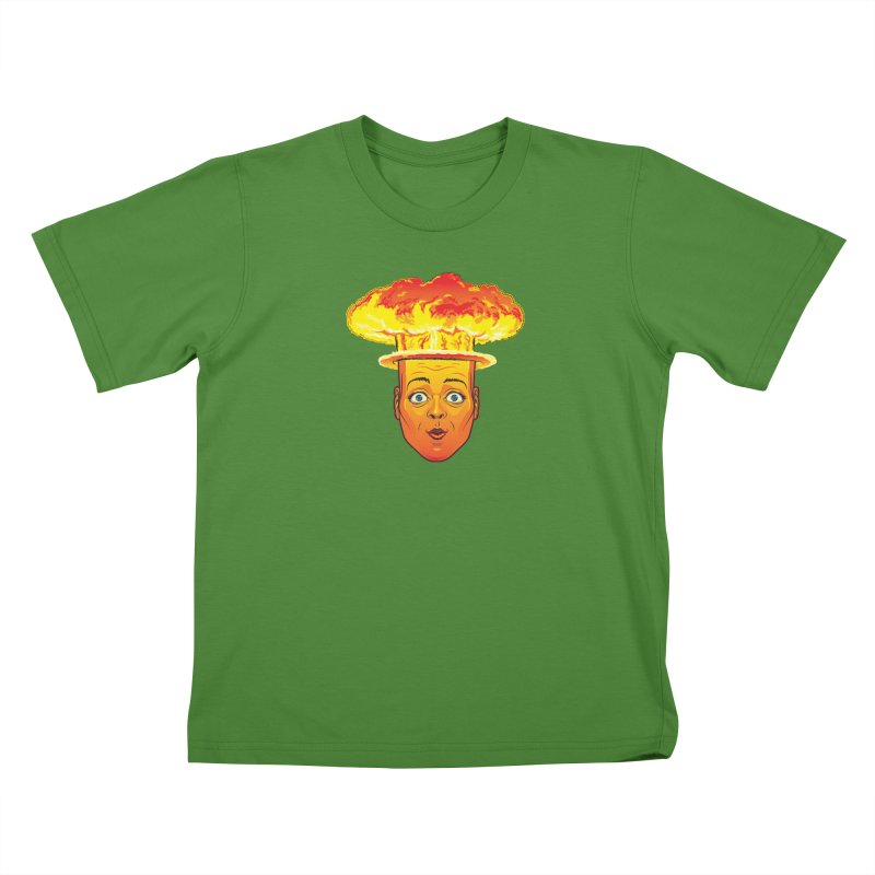 Atomic Head Kids T-Shirt by guy's Artist Shop