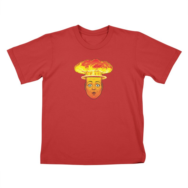 Atomic Head Kids T-Shirt by guy's Artist Shop