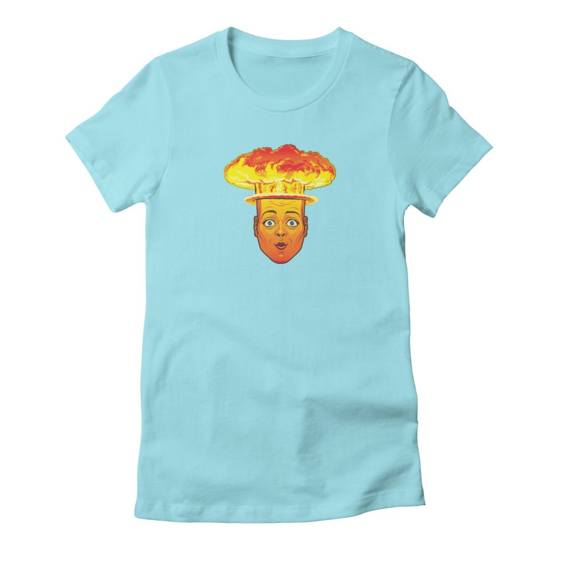 Atomic Head Women's Fitted T-Shirt by guy's Artist Shop