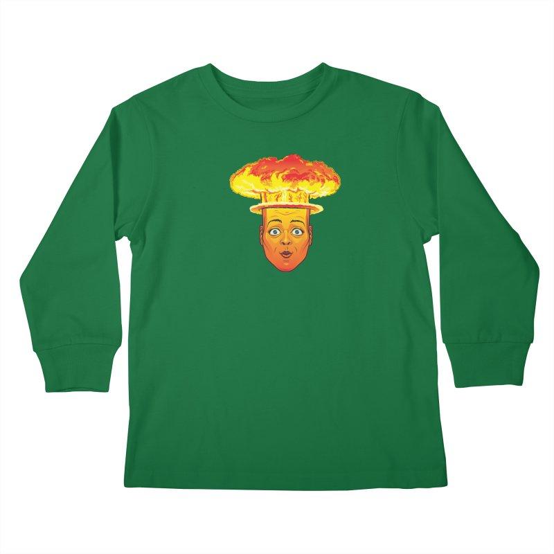 Atomic Head Kids Longsleeve T-Shirt by guy's Artist Shop
