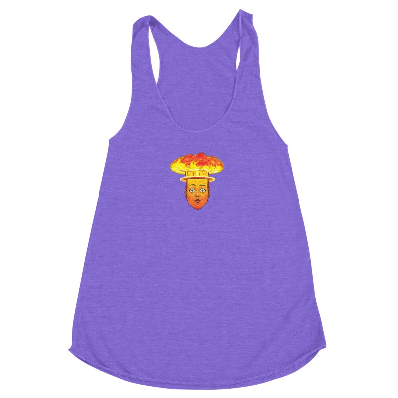 Atomic Head Women's Racerback Triblend Tank by guy's Artist Shop