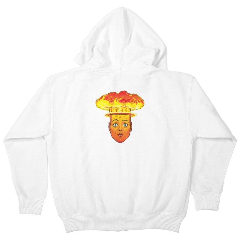 Atomic Head Kids Zip-Up Hoody by guy's Artist Shop