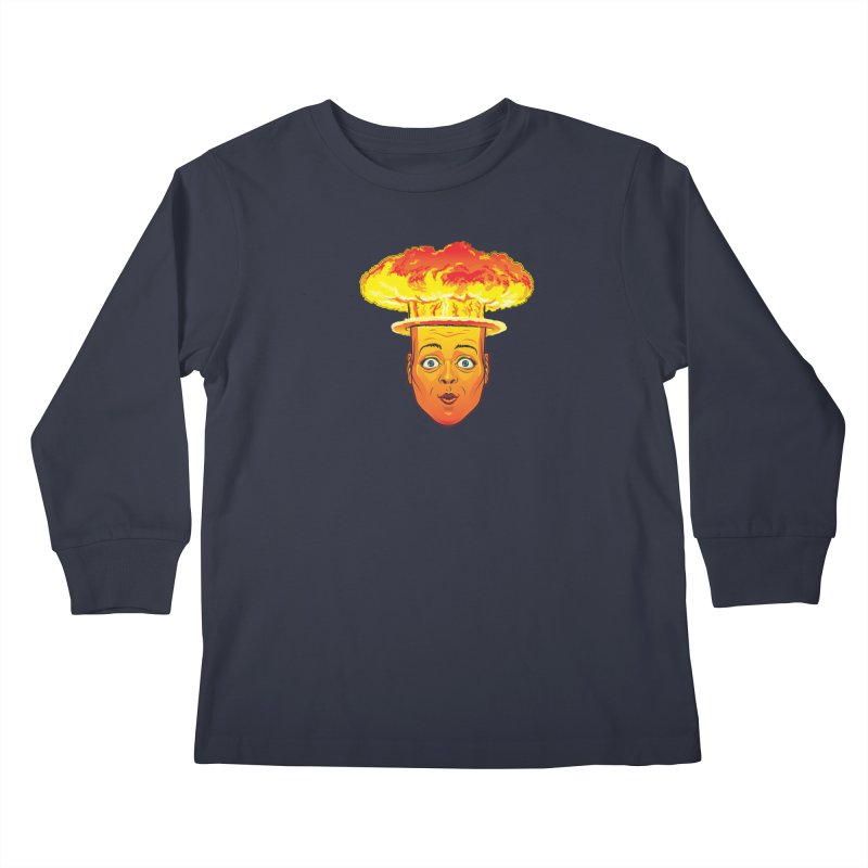 Atomic Head Kids Longsleeve T-Shirt by guy's Artist Shop
