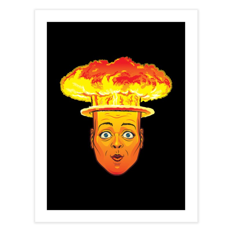 Atomic Head Home Fine Art Print by guy's Artist Shop