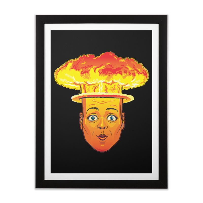 Atomic Head Home Framed Fine Art Print by guy's Artist Shop
