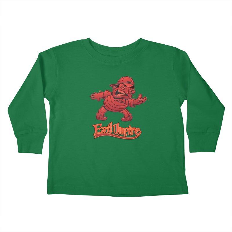 Evil Umpire Kids Toddler Longsleeve T-Shirt by guy's Artist Shop