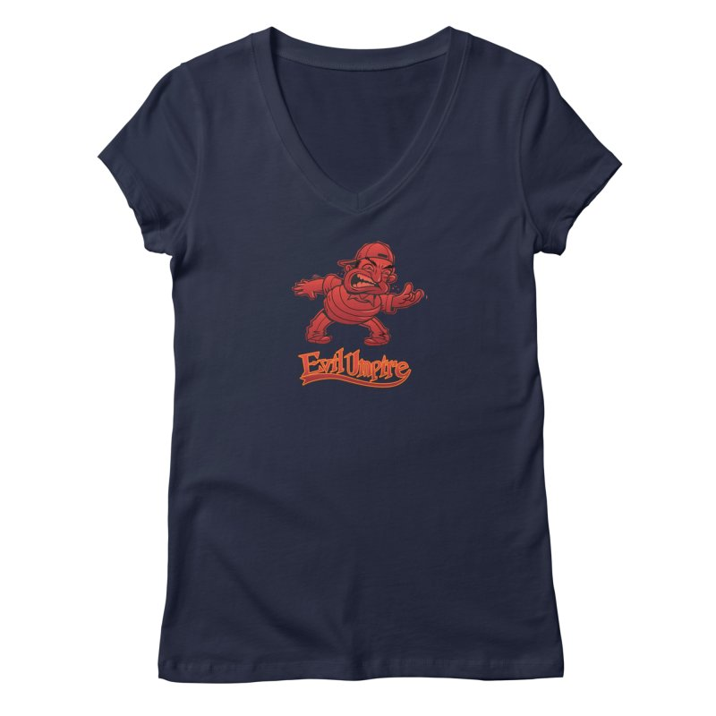 Evil Umpire Women's V-Neck by guy's Artist Shop