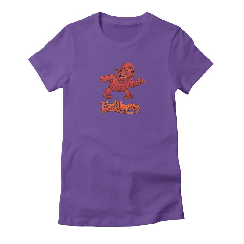 Evil Umpire Women's Fitted T-Shirt by guy's Artist Shop