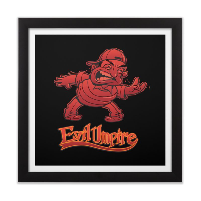 Evil Umpire Home Framed Fine Art Print by guy's Artist Shop